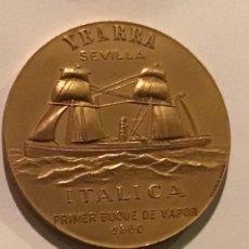 Trofeos y medallas: CRUCEROS YBARRA-CABO SAN VICENTE-SEVILLA-ITÁLICA. PRIMER BUQUE DE VAPOR 1860. VALENCIA-AÑO 1971.. Lote 213499012