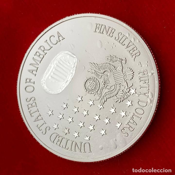 Trofeos y medallas: MONEDA PLATA MISION ATERRIZAJE LUNAR 50 ANIVERSARIO - NASA - ESTADOS UNIDOS DE AMERICA - Foto 3 - 235930875