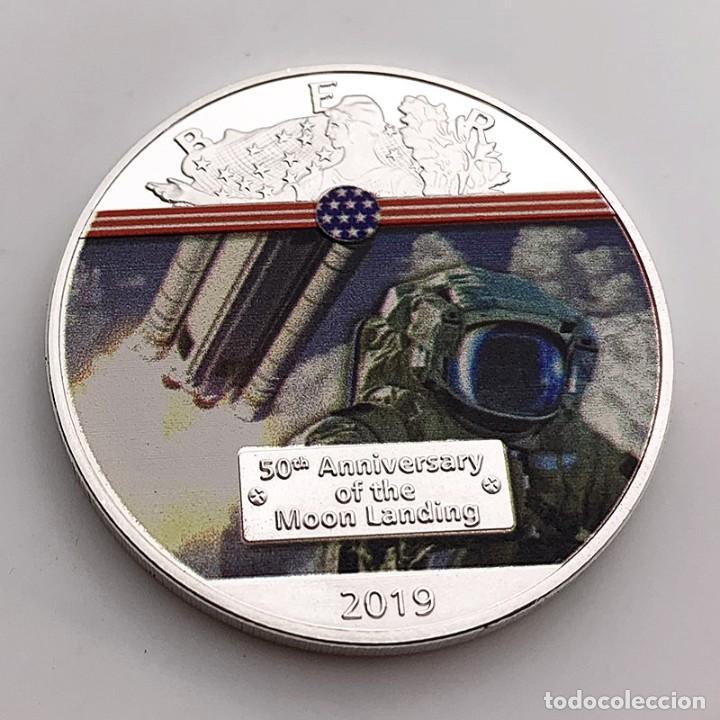 MONEDA PLATA MISION ATERRIZAJE LUNAR 50 ANIVERSARIO - NASA - ESTADOS UNIDOS DE AMERICA (Numismática - Medallería - Trofeos y Conmemorativas)