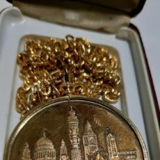 Trofeos y medallas: MEDALLA DE ÓRBITA DE BRONCE LONDON. Lote 215286012