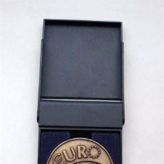 Trofeos y medallas: MEDALLA CON SU ESTUCHE. 10 ANIVERSARIO. PLANES DE PENSIONES POPULAR. 1998. Lote 215997531