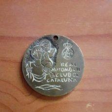 Trofeos y medallas: ANTIGUA PLACA MEDALLA - RAC - REAL AUTOMOVIL CLUB DE CATALUÑA. Lote 216797110