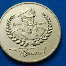 Trofeos y medallas: ALEMANIA SEGUNDA GUERRA MUNDIAL MEDALLAS CHAPADAS EN ORO ERWIN ROMMEL EJÉRCITO MARSHAL CONMEMORATIVA. Lote 216830858