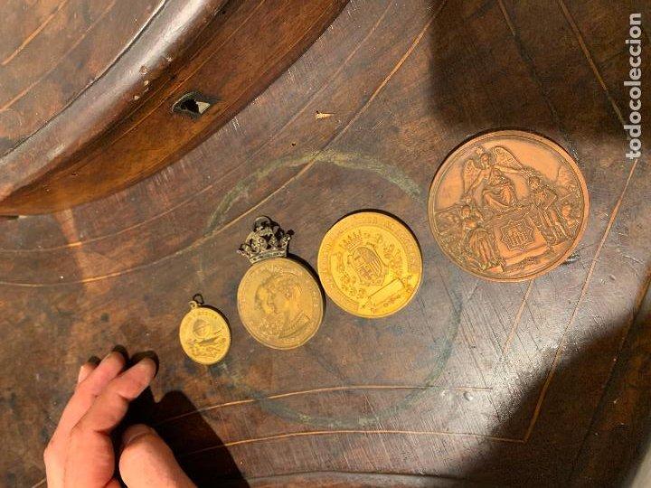 LOTE 4 MEDALLAS EXPOSICION ARAGONESA 1885-1886, MEDALLA VILLANUEVA GELTRÚ PROGRESO BARCELONA 1888 (Numismática - Medallería - Trofeos y Conmemorativas)