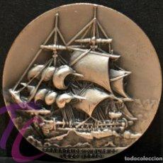 Trofeos y medallas: MEDALLA SALON NAUTICO DE BARCELONA 1971 FRAGATA D. BLAS DE LEZO 1710. Lote 217632450