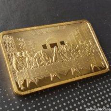 Troféus e medalhas: EXCLUSIVO LINGOTE DE ORO DE COLECCION DE LA FAMOSA OBRA LA ÚLTIMA CENA DE LEONARDO DA VINCI. Lote 277024193