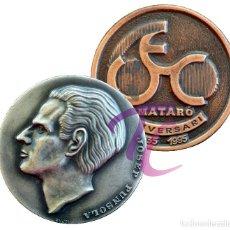 Trofeos y medallas: LOTE 2 MEDALLAS MATARO BARCELONA UNIO EXCURSIONISTA. Lote 218203703
