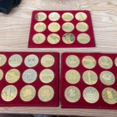 Trofeos y medallas: COLECCION 36 MEDALLAS-MONEDAS PAISES MIEMBROS DE LA CEE.. Lote 218290226