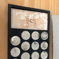 Trofeos y medallas: 15 MONEDAS PLATA SUERTES Y TOREO. 69 GRAMOS PLATA PURA. CAJA MAL ESTADO SIN FRONTAL. Lote 218293286