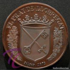 Trofeos y medallas: MEDALLA EN BRONCE BANCO DE SABADELL 1973 EL PRAT DEL LLOBREGAT. Lote 218316472
