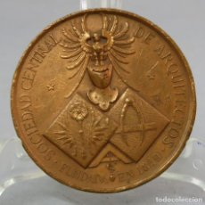 Trofeos y medallas: MEDALLA DE BRONCE SOCIEDAD CENTRAL DE ARQUITECTOS FUNDADA EN 1849. Lote 219295376