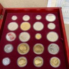 Trofeos y medallas: 24 MONEDAS DE PLATA HISTORIA DE LA PESETA RÉPLICAS CONMEMORATIVAS CASA DE LA MONEDA CON CERTIF. Lote 219310106