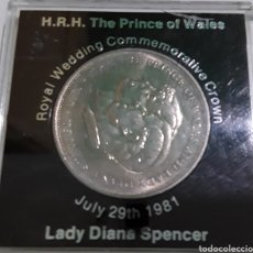 Trofeos y medallas: LADY DIANA SPENCER COMMEMORATIVE, QUEEN ELIZABERT II SILVER JUBILEE CROWN, THE PRINCE PHILLIP. Lote 219421157