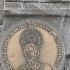 Trofeos y medallas: MEDALLA 75 ANIVERSARIO CARTAGENA AGRUPACION SANTIAGO APOSTOL CALIFORNIOS 1928 2003. Lote 220233060