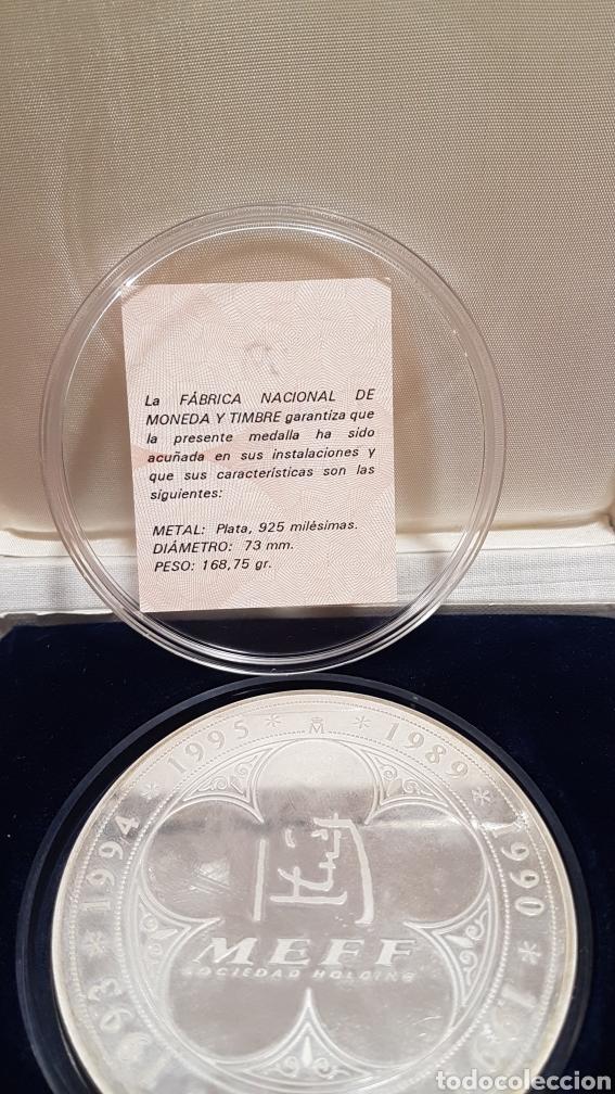 Trofeos y medallas: Medalla commemorativa MEFF PLATA - Foto 2 - 222004317
