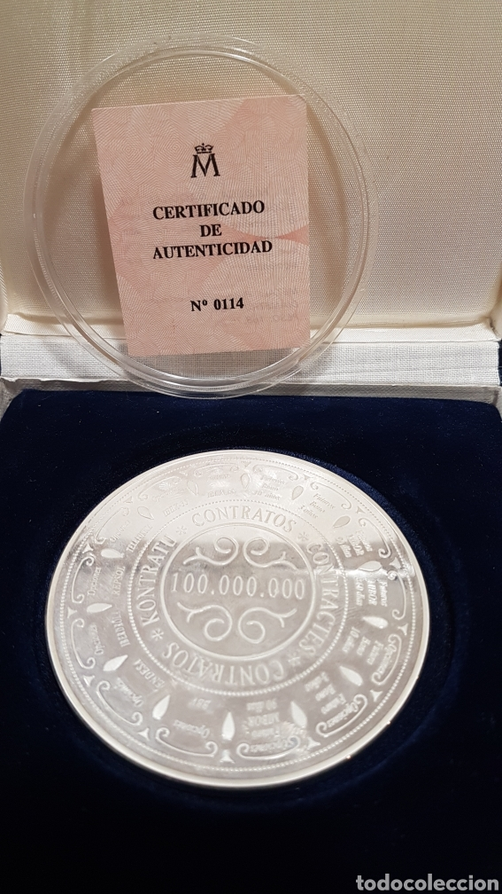 Trofeos y medallas: Medalla commemorativa MEFF PLATA - Foto 3 - 222004317