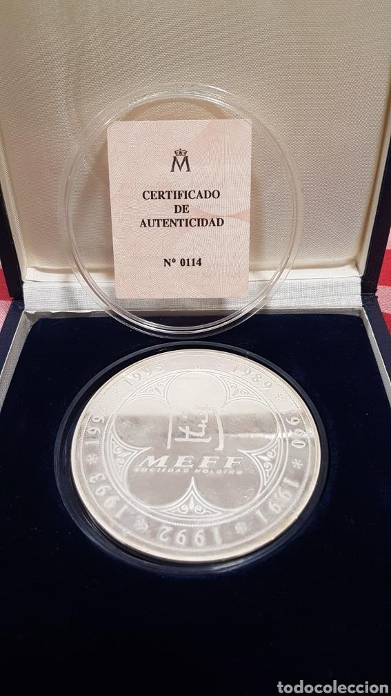 MEDALLA COMMEMORATIVA MEFF PLATA (Numismática - Medallería - Trofeos y Conmemorativas)