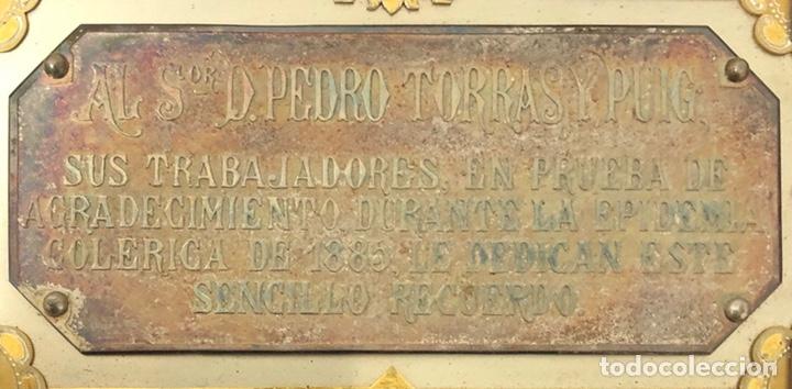 Trofeos y medallas: Antigua placa conmemorativa en plata, y plata dorada. - Foto 4 - 222017096