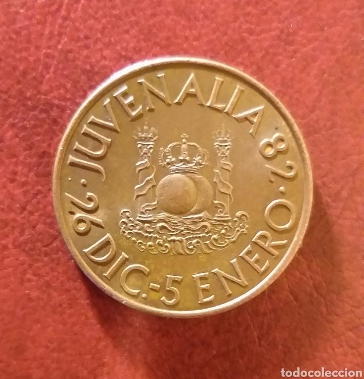MONEDA CONMEMORATIVA JUVENALIA AÑO 1982 (Numismática - Medallería - Trofeos y Conmemorativas)