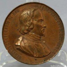 Trofeos y medallas: MEDALLA II CENTENARIO CALDERÓN DE LA BARCA DE ESPAÑA AL AUTOR FIRMADO ESTEBAN LOZANO 1881. Lote 222456265