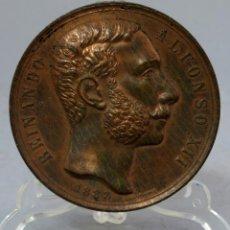 Trofeos y medallas: MEDALLA EXPOSICIÓN DE MINERIA REINADO DE ALFONSO XIII EN 1883 FIRMADA POR GREGORIO SELLÁN Y GONZÁLEZ. Lote 222459456
