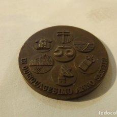 Trofeos y medallas: MEDALLA CONMEMORATIVA ORIGINAL AÑO 1975 COMPAÑÍA TELEFÓNICA NACIONAL DE ESPAÑA 4 CM. BRONCE. Lote 222703731