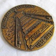 Trofeos y medallas: MEDALLA DE BRONCE ASCARGO 1958-1983, CARGO ACCESS EQUIPMENT. Lote 222707291