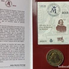 Trofeos y medallas: SELLO Y MEDALLA CONMEMORATIVA: IV CENTENARIO CASA DE MONEDA DE MADRID (FNMT, 2015). Lote 223258600