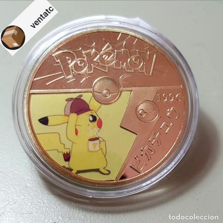 MONEDA DE COLECCIÓN POKEMON. COMPLETA TU COLECCIÓN. (Numismática - Medallería - Trofeos y Conmemorativas)