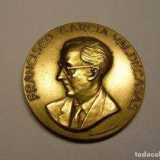 Trofeos y medallas: MEDALLA EN HOMENAJE A FRANCISCO GARCIA VALDECASAS. FARMACÓLOGO.. Lote 226201907
