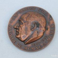 Trofeos y medallas: MEDALLA CONMEMORATIVA A JOSE Mª MARCET COLL - DE 5 CM. DE DIAMETRO. Lote 228563380