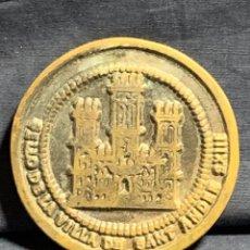 Trofeos y medallas: MEDALLA CONMEMORATIVA BRONCE PATINADO SELLO DE LA VILLA DE SANTANDER 8CMS. Lote 233473170