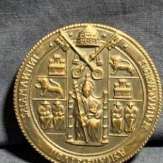 Troféus e medalhas: MEDALLA UNIVERSIDAD DE SALAMANCA 750 ANIVERSARIO BRONCE 1218 1968 75MM. Lote 233561185