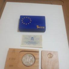 Trofeos y medallas: MONEDA 5 ECUS CARLOS V DE PLATA 1989. Lote 235846270