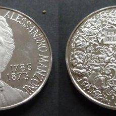 Trofeos y medallas: MONEDA MEDALLA CONMEMORATIVA DE 22 GR. PLATA 925/1000 ALESSANDRO MANZONI 1785 - 1873. Lote 236174740