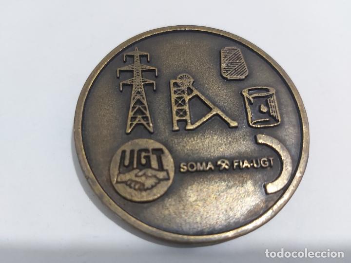 MEDALLA CENTENARIA DE LOS MINEROS ASTURIANOS (Numismática - Medallería - Trofeos y Conmemorativas)