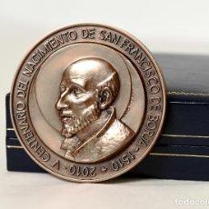 Trofeos y medallas: MEDALLA V CENTENARIO NACIMIENTO DE SAN FRANCISCO DE BORJA, 1510-2010 GANDÍA - (EN SU ESTUCHE). Lote 236901110
