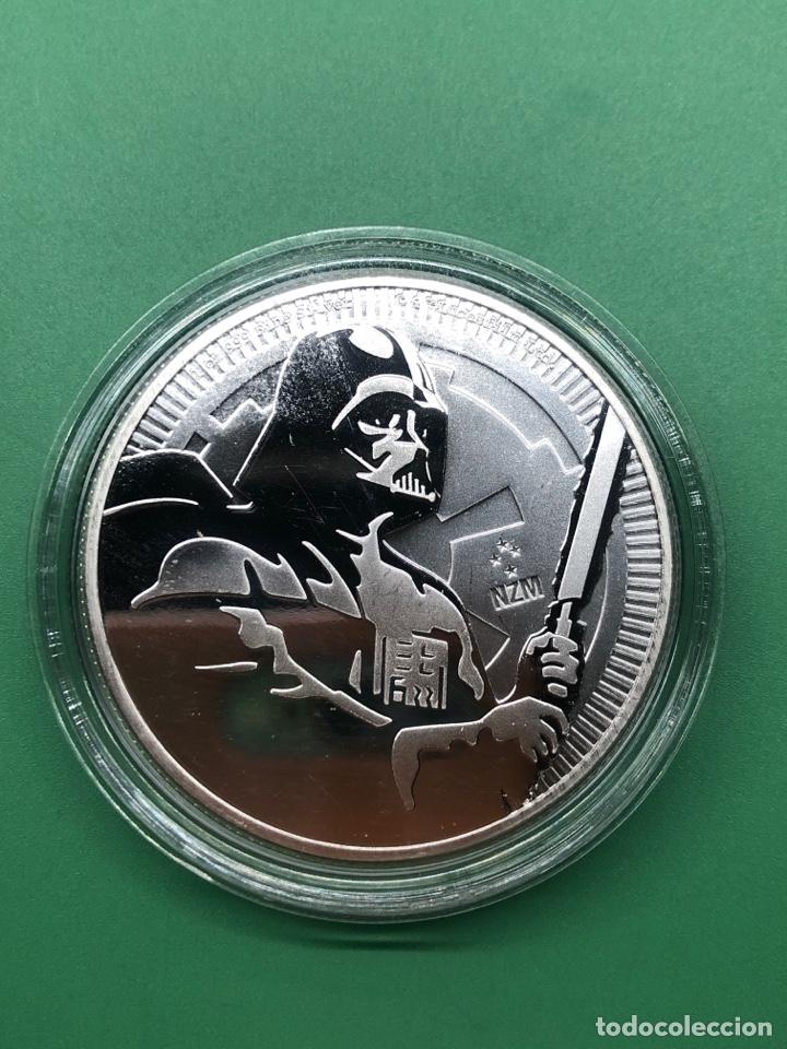 ONZA DE PLATA PURA STAR WARS DARTH VADER NIUE (Numismática - Medallería - Trofeos y Conmemorativas)