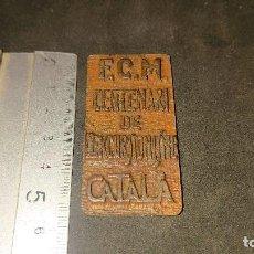 Trofeos y medallas: MEDALLA F.C.M CENTENARI DE EXCURSIONISME CATALA 1976 , PESO 37 GR . LEER DESCRIPCION. Lote 237209700