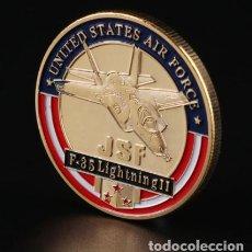 Trofeos y medallas: MONEDA FUERZA AEREA DE LOS ESTADOS UNIDOS F35 - MILITAR. Lote 237807170