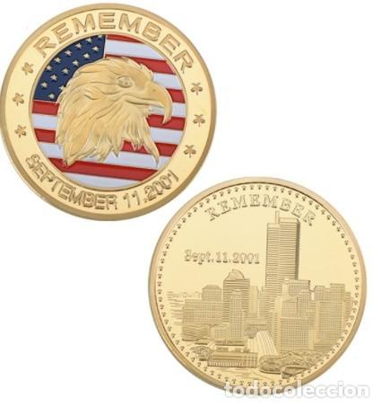 MONEDA CONMEMORATIVA 11S ATENTADO TORRES GEMELAS EE.UU (Numismática - Medallería - Trofeos y Conmemorativas)
