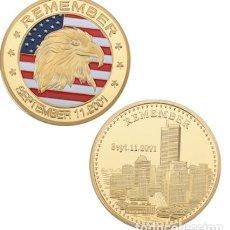 Trofeos y medallas: MONEDA CONMEMORATIVA 11S ATENTADO TORRES GEMELAS EE.UU. Lote 237808125