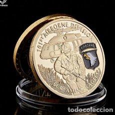 Trofeos y medallas: MONEDA EJERCITO DEL AIRE - DIVISION AEREA - 101 AÑOS ESTADOS UNIDOS. Lote 237808730