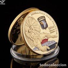 Trofeos y medallas: MONEDA CONMEMORATIVA DIVISION PARACAIDISTAS ESTADOS UNIDOS. Lote 237809465