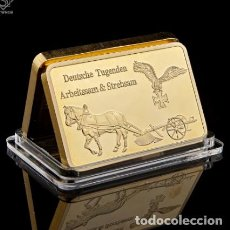 Trofeos y medallas: LINGOTE ORO 24KT ALEMANIA NAZI. Lote 237810995
