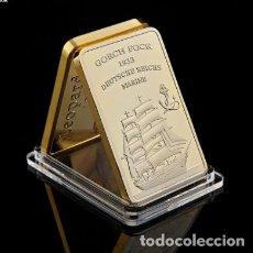 Trofeos y medallas: LINGOTE MARINA ALEMANA 1933 - GORCH FOCK. Lote 237814700