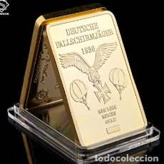Trofeos y medallas: LINGOTE FUERZA AEREA PARACAIDISMO 1936 - ALEMANIA. Lote 237820825