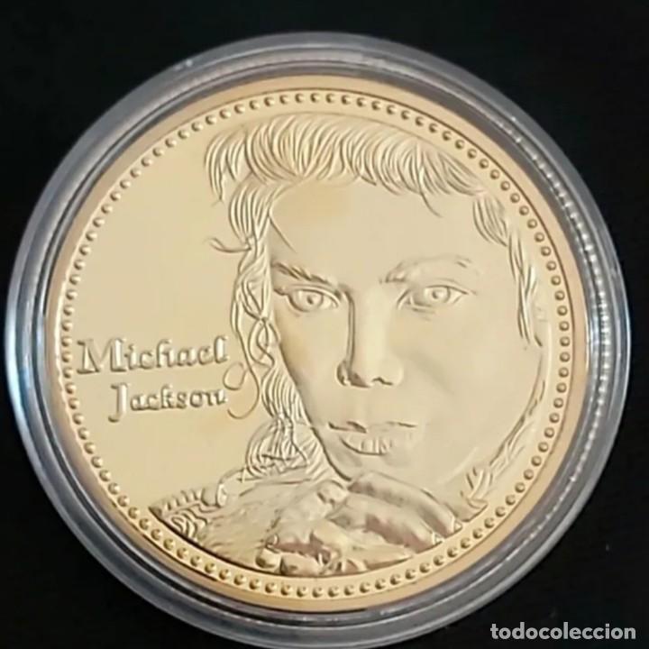 MICHAEL JACSON. EL REY DEL POP. MONEDA DE COLECCIÓN. (Numismática - Medallería - Trofeos y Conmemorativas)