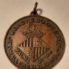 Trofeos y medallas: PALMA DE MALLORCA. 1925. CONGRESO DE ESPERANTO. MEDALLA DE BRONCE.. Lote 26487608