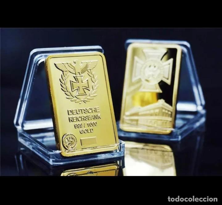LINGOTE ALEMANIA NAZI ORO DEUTSCHE REICHSBANK EDICION LIMITADA - CRUZ AGUILA (Numismática - Medallería - Trofeos y Conmemorativas)